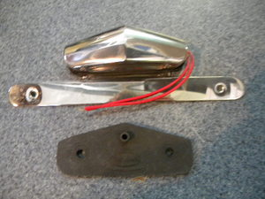 Street Rod Ss License Plate Bracket With Light And Pad