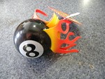 8 ball antennal top with flames