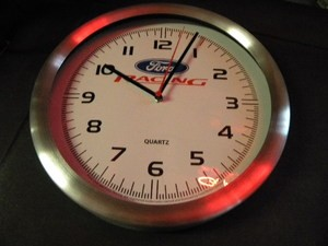 "Ford Racing Clock - 12"" quartz"