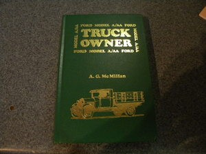 Model A and AA Truck owner hardcover book