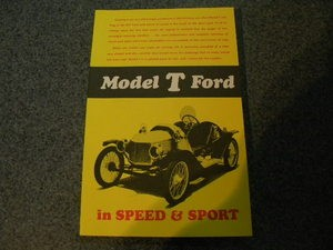 Model T FORD in SPEED and Sport
