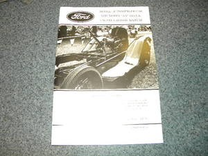 Model A and AA Chassis and Engine Manual