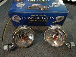 1933 1934 Cowl Lamps (pr) with directionals