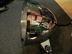 Motorcycle Headlamp - Chopper / Bobber Style