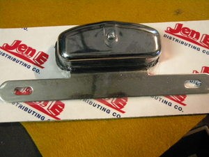 Chrome Plated License Plate Bracket WITH 12v Light
