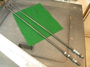 Model A Stainless Steel Radiator Rods (pr)