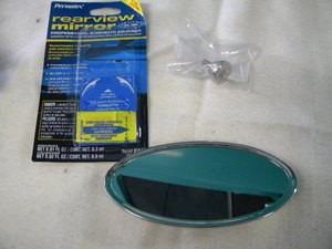 Oval Stainless Steel Glue on Mirror - FREE Glue!