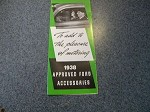 1938 Ford approved accessory booklet