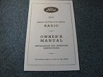 1940 Ford Radio Owners Manual