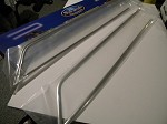 1937 Ford Stainless HOOD SIDE Trim WITH clips (pair)
