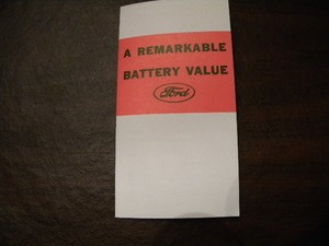 The Ford Battery - information flyer