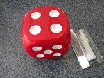 solid color red dice universal shift knob