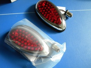 1938-1939 Ford LED taillamps pair USA Made
