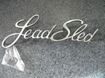 Lead Sled Chrome Emblem.