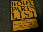 1933 1934 body parts list book