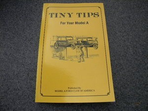 Tiny Tips Model A Book
