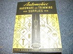 1928 - 1938 hardware and trim book
