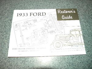 1933 Ford Restorers Guide