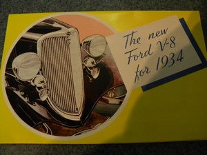 New Ford V8 Brochure for 1934 (fold out!)