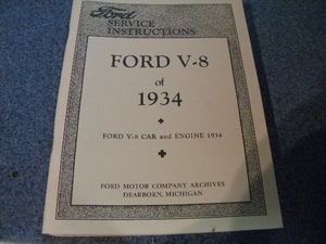 1934 Ford service instructions