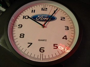 Ford Blue LOGO Quartz Clock