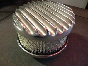Polished Aluminum FINNED Air Cleaner