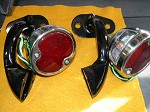 1932 Ford Tail Lamp Kit (2 black stands - SS lamps)