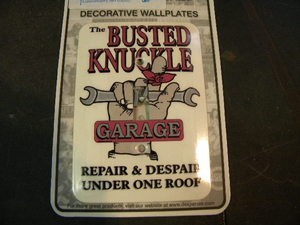 BUSTED KNUCKLE Light Switch Plate