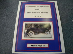 Model  A Ford A-Z Coupe Book 1930-31