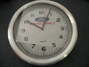 "12"" FORD RACING CLOCK"